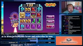 Big Win From Donuts Slot At LeoVegas Casino!!