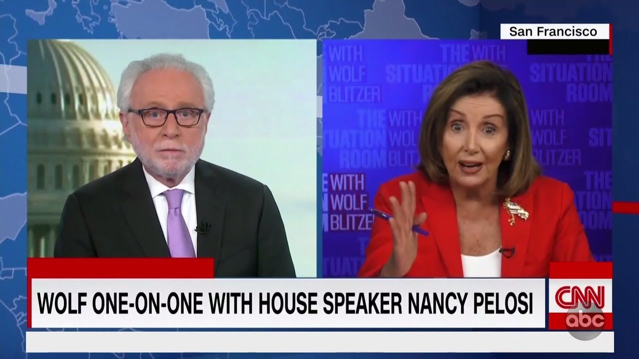 Wolf Blitzer Clashes With Nancy Pelosi Over Stimulus | The View