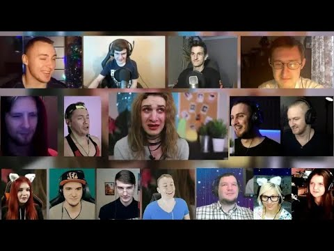 [REUPLOAD]55x55 - A SONG ABOUT YOUTUBE. PARODY | Satyr | RUSSIAN REACTION MASHUP