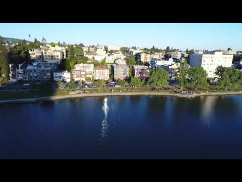 Lake Merritt, Oakland, California. 4K