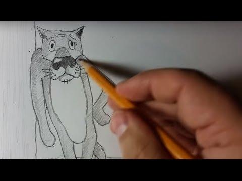 Нереальные рисунки карандашом. Как нарисовать волка из м/ф Жил был пес. Sketching a wolf