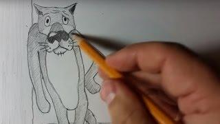 Нереальные рисунки карандашом. Как нарисовать волка из м/ф