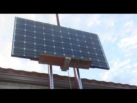 DIY Solar Panel Lift/Roof Hoist