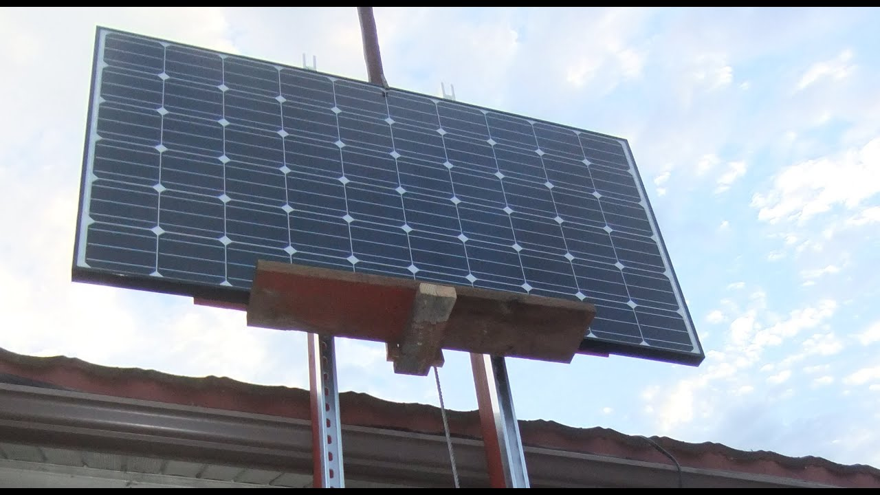 Diy Solar Panel Lift Roof Hoist Youtube