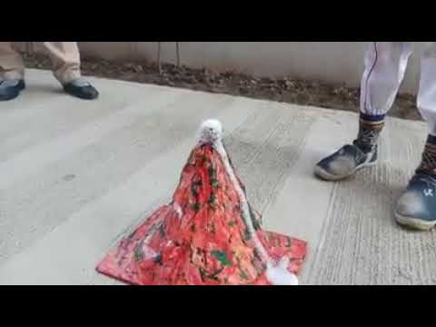 Working Model Of Volcano | Making | Indian Science Child
