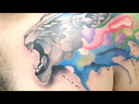 Lion watercolor tattoo Gerardo Vera Inframundo