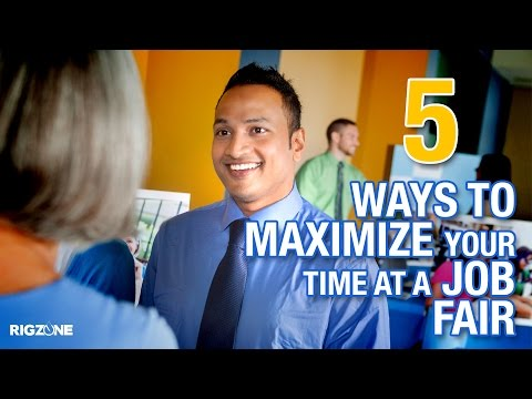 Rigzone's 5 Ways To Maximize Your Time At A Job Fair #JobVidsbyVal