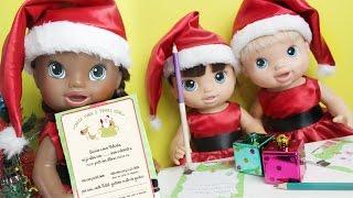 Baby Alives Mandam Cartinha Para o Papai Noel - Lilly Doll
