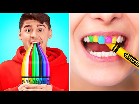 HOW TO SNEAK SNACKS INTO CLASS || Crazy DIY Ways For Sneaking Food Funny Candy Ideas By 123 GO! BOYS
