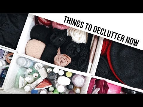 5 THINGS TO DECLUTTER NOW | Alice
