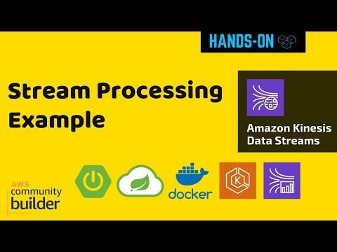 Stream Processing Example using Spring Boot, Spring Cloud Stream, EKS, Kinesis Data Streams