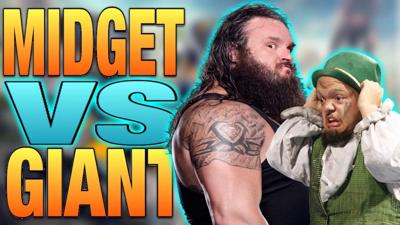 Giant Vs. Midget - YouTube