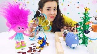 Новогодние поделки с Розочкой. Видео для детей