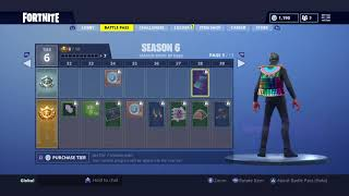 Fortnite Season 6 battle pass Reaction *Epic new skins, dope dusk skin and OG lobby music *