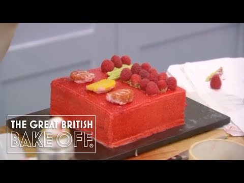 Preparing a Hidden Design Cake - The Great British Bake Off