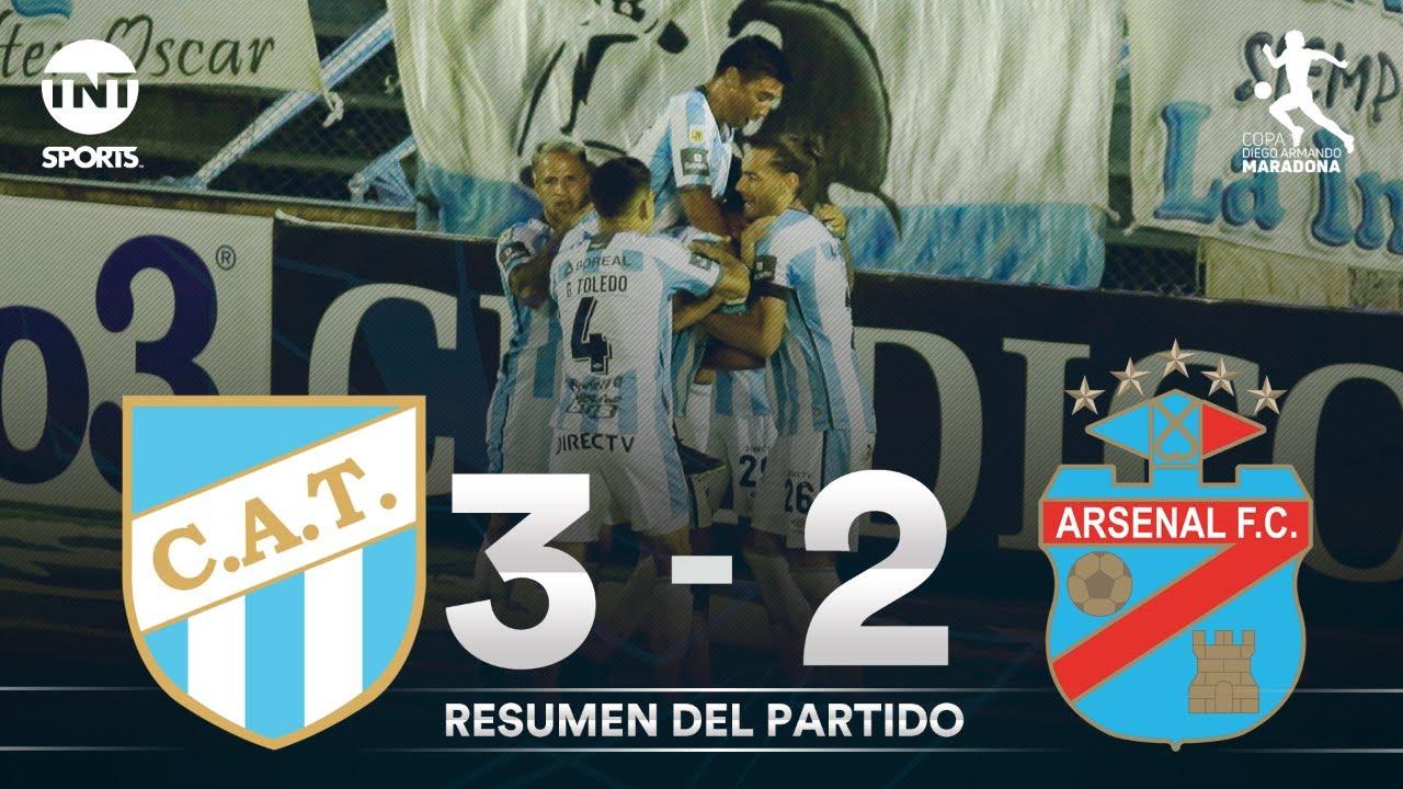 Resumen de Atlético Tucumán vs Arsenal (3-2) | Fecha 5 | Zona 1 | Copa Diego Armando Maradona