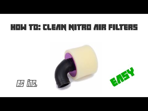 How To Clean Nitro Air Filters ( Easy )