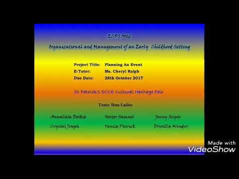 ECFS 3002 - Planning An Event