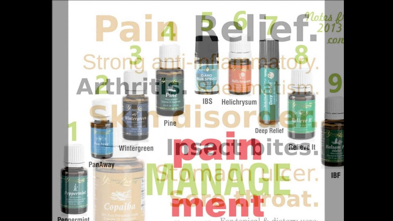 Pain Relief With Young Living Essential Oils Youtube
