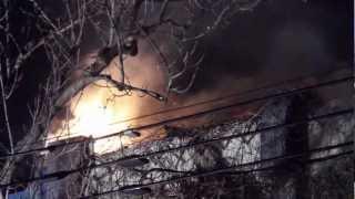 Feu 3 alarmes sur le Plateau - Montreal 3 alarm fire