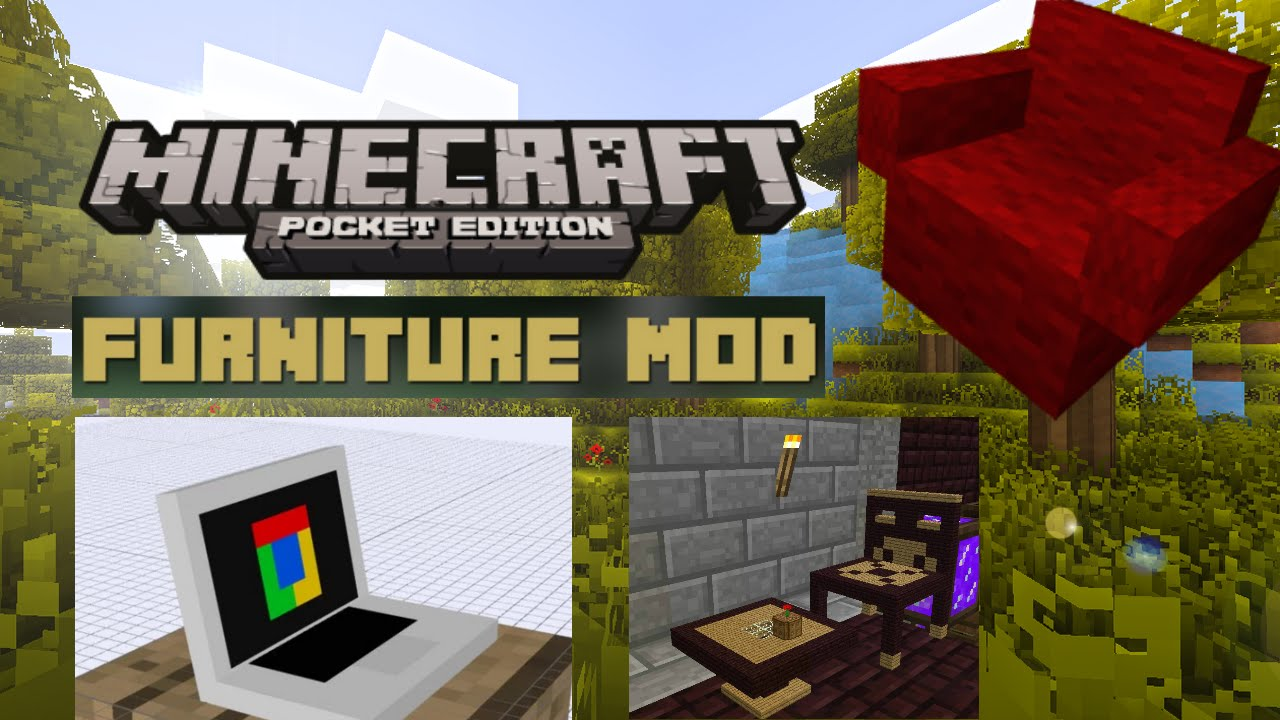Minecraft Pe Furniture minecraft pe | the best furniture mod for minecraft pe 14.0! - youtube