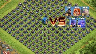COC All Troops! Who Can Survive This Difficult Trap On COC? Trap VS Troops #coco3  Chip GamePlays
