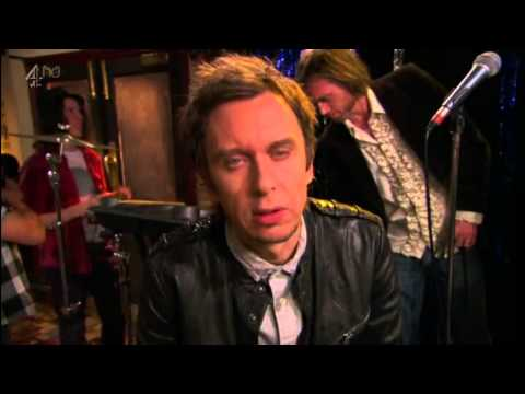 What is the name of Jez and Super Hans band? Peep Show