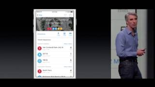 Apple iOS9 Maps Transit Demo at WWDC 2015