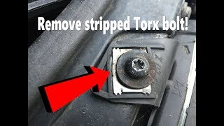 HOW TO REMOVE STRIPPED TORX BOLT OR ANY BOLT IN 5 MINS