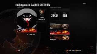 Enter no life mode: Prestige 10 / Black Ops 2