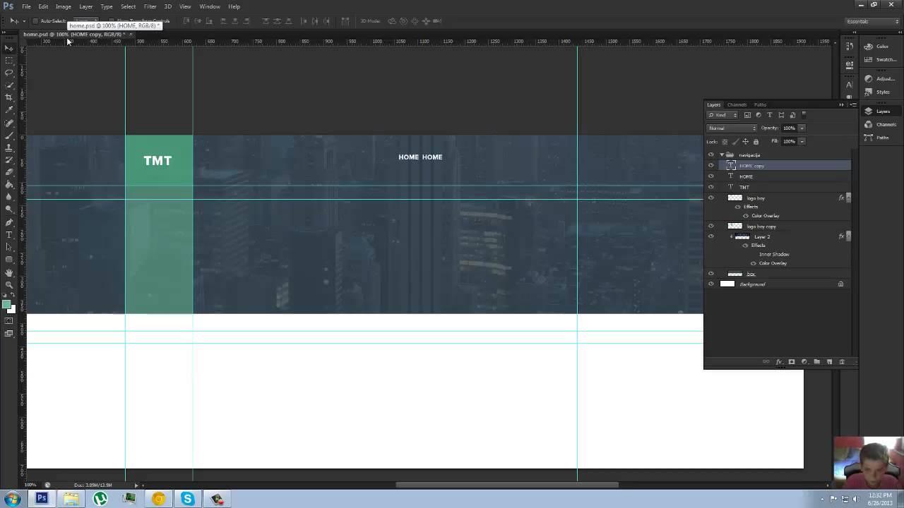 TMT - Web Design Tutorial + FREE PSD - YouTube