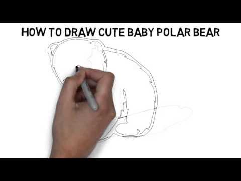 Cute polar bear drawings - photo#10