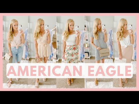 AMERICAN EAGLE SPRING CLOTHING TRY ON HAUL 2019 | SPRING OUTFIT IDEAS |  Amanda John