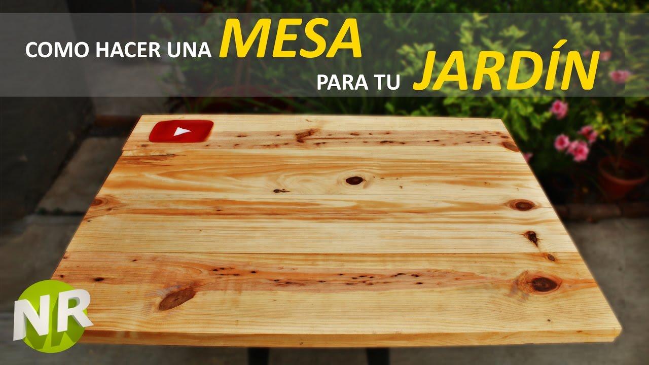 C mo hacer una mesa de madera para jard n f cil y r pido - Como hacer una mesa abatible ...