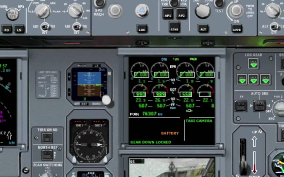 X Plane 11 Airbus A340