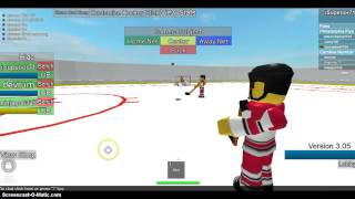 HHCL ROBLOX Hockey! Dangle Snipe and Celly!
