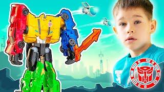 Бамблби и другие игрушки Трансформеры: роботы под прикрытием на Эрик Шоу / Erik Show