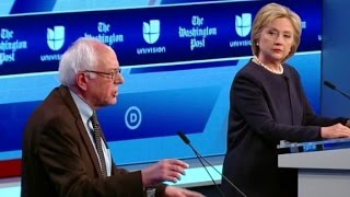 Hillary Clinton, Bernie Sanders clash over voting records