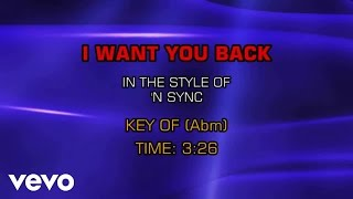 Nsync - I Want You Back (Karaoke)