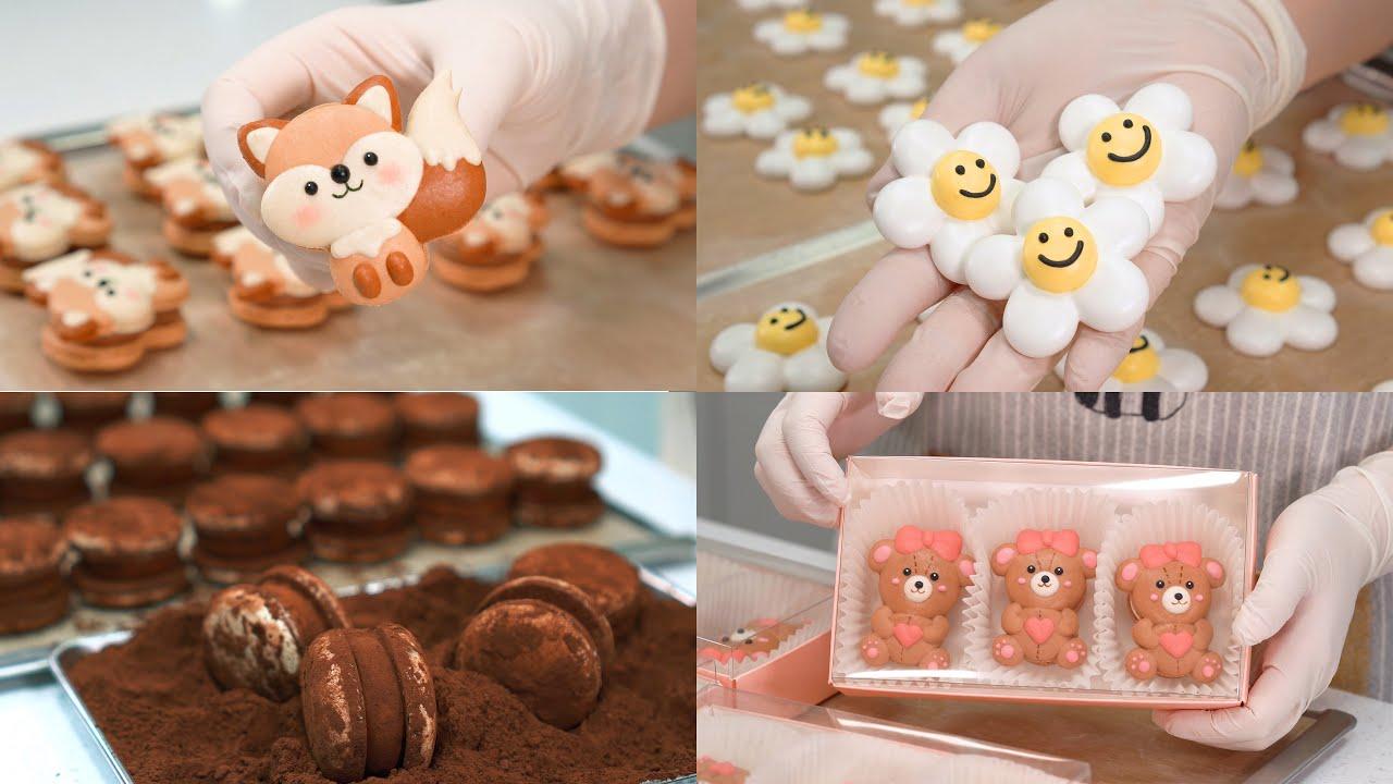 Sugar Bean's collection of piping macarons 슈가빈 마카롱 파이핑 모음집  [SUGAR BEAN]