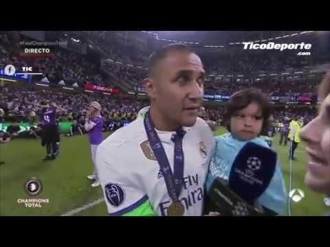 Momento en el que Florentino Pérez confirma que Keylor Navas se queda en el Real Madrid