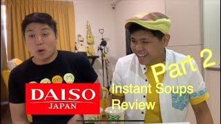 Daiso Instant Soup Taste Test Part 2