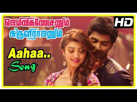 Gemini Ganeshanum Suruli Raajanum Scenes | Aahaa Song | Pranitha's Marriage Fixed | Atharvaa