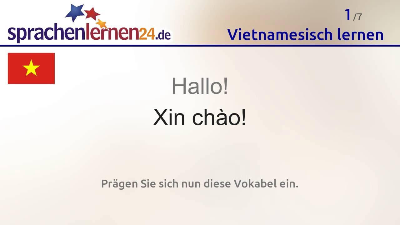 Lernen Sie Die Wichtigsten Wörter Auf Vietnamesisch