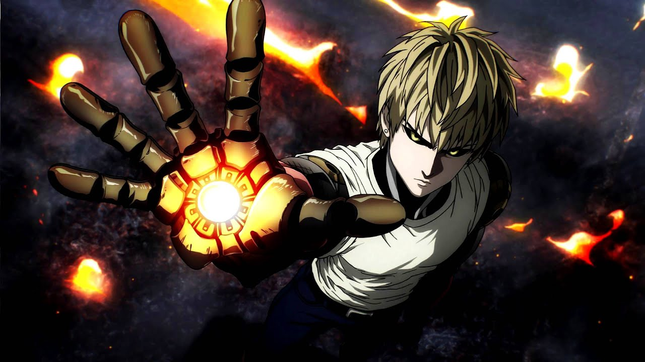 One punch man ost the cyborg fight genos 39 theme youtube - Funny one punch man wallpaper ...