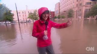 Downtown Houston under water