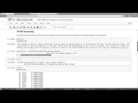 Text Analytics - Latent Semantic Analysis