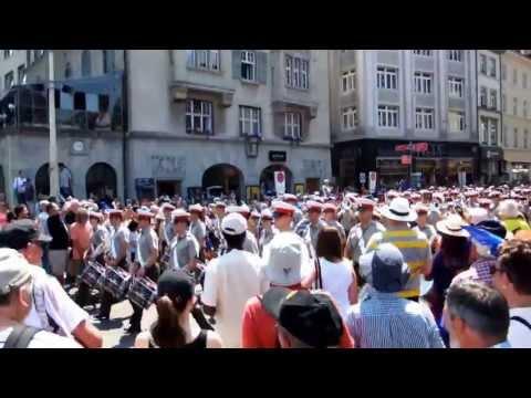 H.M. Royal Marines Band - Streetparade Basel, 27-07-2013