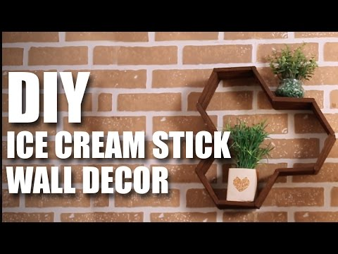 How to make a DIY Ice Cream Stick Wall Decor