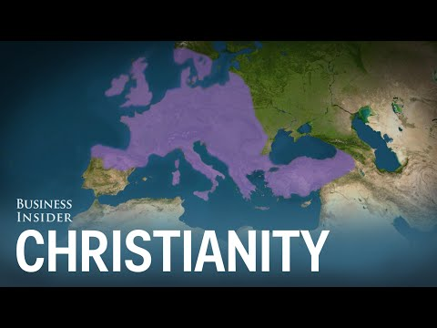 Animated map shows how Christianity spread around the world